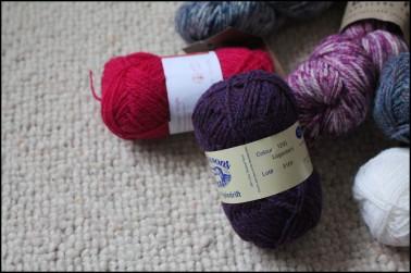 purples yarn