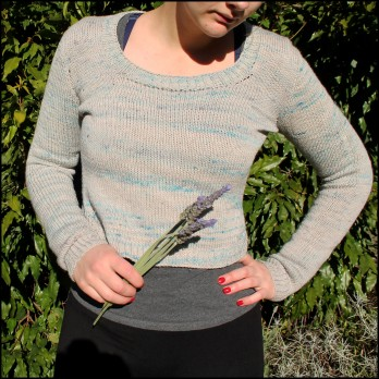 Helens Enso Jumper Front View Fern and Thread